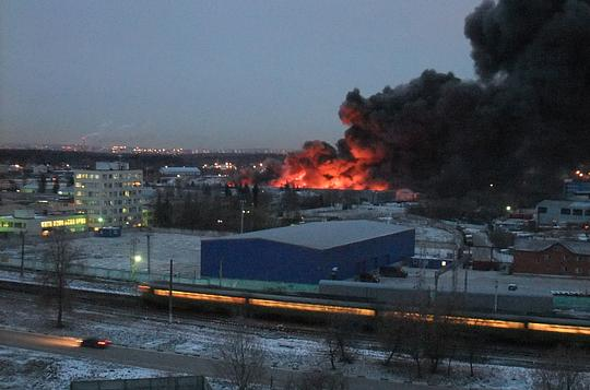 Гигантский пожар в Одинцово [ сайт Дубки.ИНФО ]