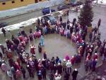 """Праздник Нового года 27-12-2009 в ЖК """"Дубки"""" вид сверху"""