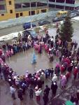 """Праздник Нового года 27-12-2009 в ЖК """"Дубки"""" (выход Снегурочки)"""