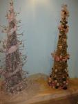 Серебрянная и золотая елки
