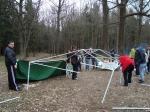сборка шатра