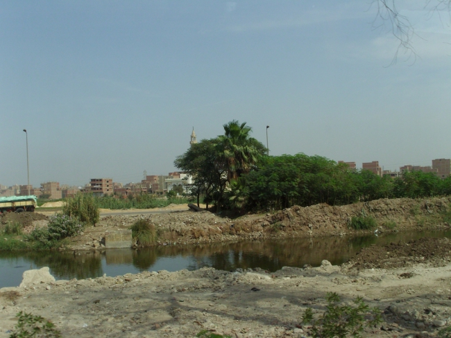 "Египет. Каир. Микрорайон ""Дубки"". Вид со стороны пруда"