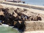 Египет. Александрия. Рыбаки на Средиземном море...