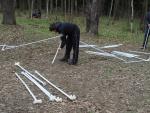 Начало сборки шатра