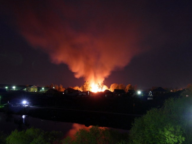 Пожар в Юдино