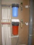 Типовое размещение труб и фильтров. Правильная разводка сантехники в стояке. ФОТО со старого сайта Дубков