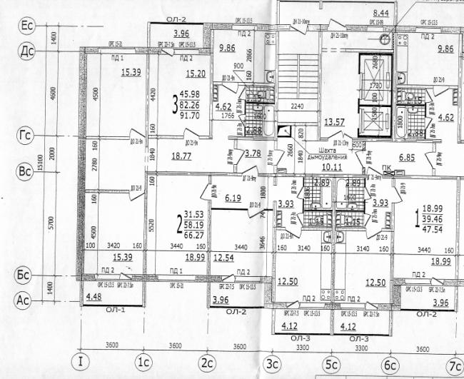 План 25 дома 2 подъезд