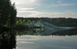 Озеро на Куровской где-то в 5 утра