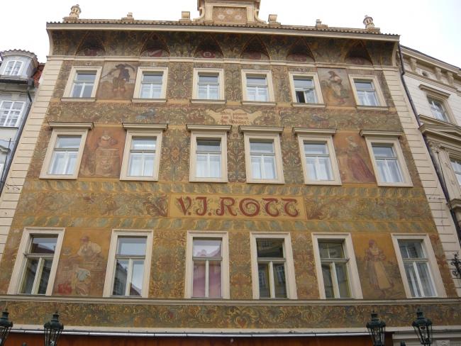 Вот такие дома в Праге