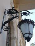Вот такие фонари при входе в дворец Юсуповых