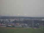 Вид из Гусарской Баллады на Москву (район Новепеределкино)