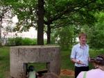 Зам главы г.п. Лесной городок Иван Павлович Ефимов рассказывает о пулемётном гнезде