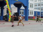 """Фрагмент-7 праздничного выступления в Дубковской СОШ """"Дружба"""""""