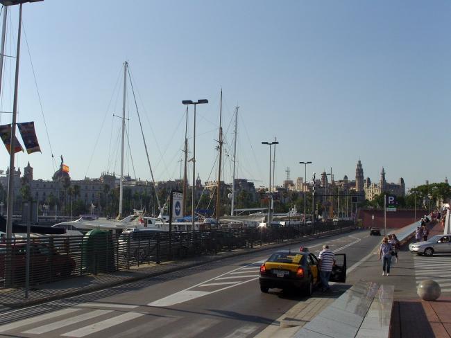 Барселона. Вид из порта