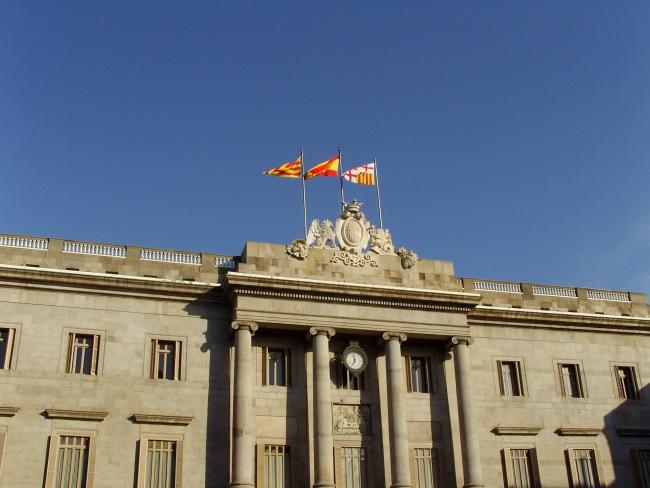 Барселона. Флаги