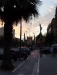 Барселона. Вечерний пейзаж