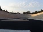 Афины. Стадион, где состоялась передача олимпийского огня для транспортировки в Лондон-2012