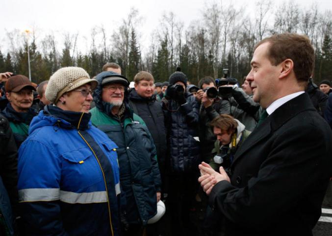 Дмитрий Медведев и люди