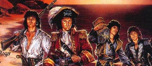 фрагмент обложки альбома Under Jolly Roger группы Running Wild